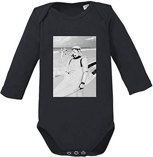 EZYshirt® Stormtrooper Baby Body Langarm Bio Baumwolle (Baby Stormtrooper Kostüm)