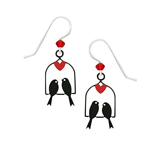 Artisan Sienna Sky Two Birds on Swing - Pendientes