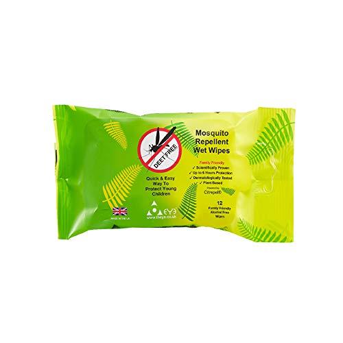Toallitas húmedas repelentes de mosquitos - 12 unidades
