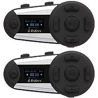 OKEU T20S Casque de Moto Intercom sans Fil Bluetooth avec système de Communication Bluetooth pour Moto, Support Radio FM, pour vélo, Ski, Escalade