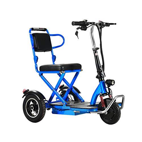 Quino Triciclo eléctrico Plegable Patinete para adultos, Silla de ruedas eléctrica Tres...