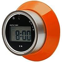 Timer da cucina digitale, rotazione elettronica timer disco modello minuto secondo Count Up Countdown ampio Display LCD allarme Timer di cottura (Orange) - Rotazione Disco