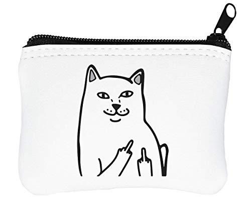 FCK You Cat Lord Nermal Funny Reißverschluss-Geldbörse Brieftasche Geldbörse -