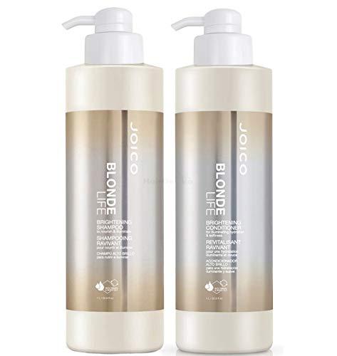 Joico Blonde Life Brightening Set - Shampoo 1000ml + Conditioner 1000ml + 2x Pumpen