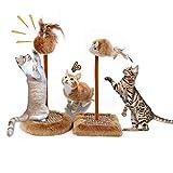 Katzenkratzspielzeug, bestehend aus Katzenkratzbrett, Katzenkratzbaum und Maus Spielzeug, Anzug für kleine Katze