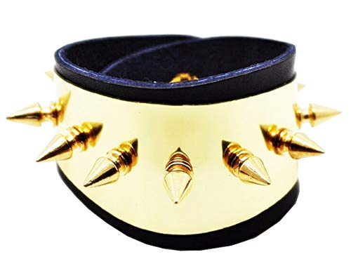 EVRYLON Damenarmband Armband für Frauen Damen Armband Harley Quinn Spikes Karneval Suicide Squad Mädchen Film Schwarze Farbe - Co Womens Stud