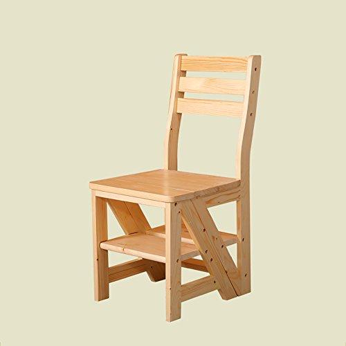 zhangrong- Multifunktions Haushalt Klappsessel Balkon Racks Leiter 420mm * 465mm * Sitz height450mm–-sofa Hocker Varnish Color