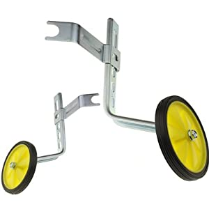 """Cyclingdeal Adjustable Kids Bicycle Bike Training Wheels Fits 12"""" To 20"""""""