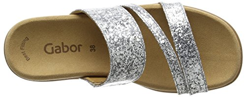 Gabor Damen Fashion Sandalen Silber (silber 71)