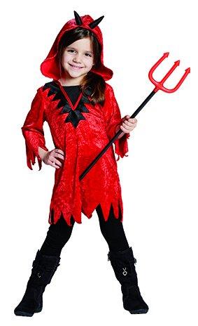 Kostüm Diabola Gr. 104 - 164 Kinder Teufel Tunika Fasching Karneval Halloween (128) (Kinder Teufel Kostüme)