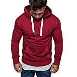 Cramberdy Herren Kapuzenpullover, Herren Pullover Outwear T-Shirt Herren Tops Herrenhemden Shirt Langarm Fitness Sweatshirt Casual Hoodies Top Bluse Trainingsanzüge Pullover Schwarz Herbst Winter