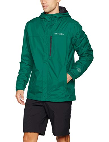 Columbia Herren Pouring Adventure II Rain Jacket, Grün (Pine Green), L