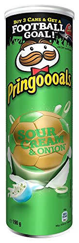 Pringles Sour Cream and Onion, 190 g