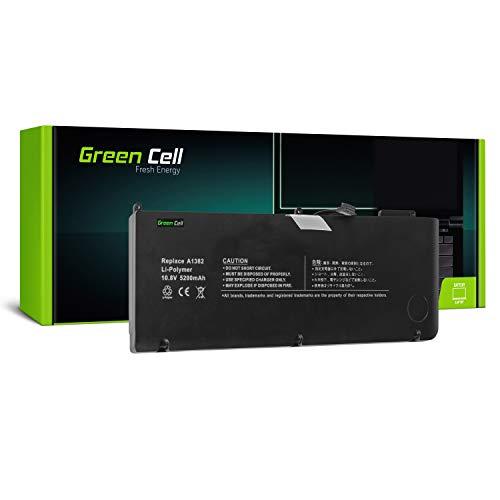 Green Cell® A1382 Laptop Akku für Apple MacBook Pro 15 A1286 2011-2012 (Li-Polymer Zellen 5200mAh 10.8V Schwarz) (Green Apple-laptop)
