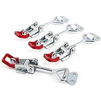 4Pcs Metall Hebel Verschluss Spannverschluss Kistenverschluss Kappenschloss4002 184KG / 404lbs Halten Kapazität Latch Button Toggle Latch