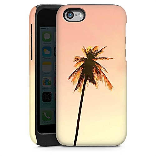 Apple iPhone 4 Housse Étui Silicone Coque Protection Palmiers Vacances Soleil Cas Tough brillant