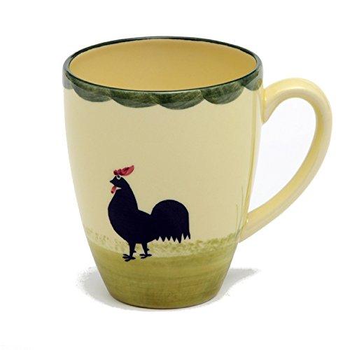 Zeller Keramik Milchkaffee Obertasse Hahn und Henne Henne Und Hahn