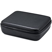 QUMOX protectora a prueba de golpes bolso impermeable del caso M para GoPro HD Hero 2 3 3 + 4 SJ4000 accesorios WIFI SJ5000 SJCAM casos portátil paquete