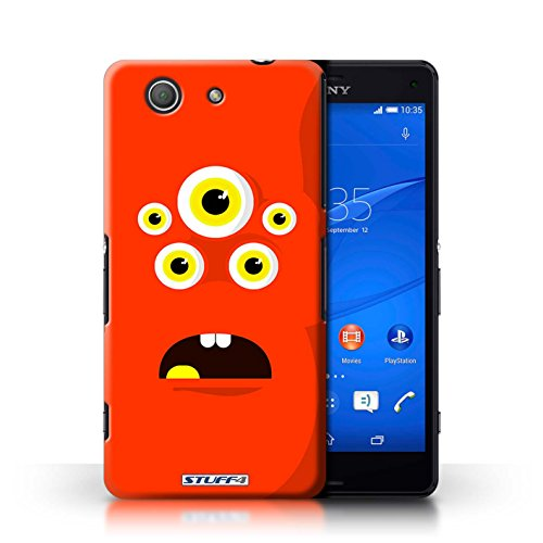 Kobalt® Imprimé Etui / Coque pour Sony Xperia Z3 Compact / Jaune conception / Série Monstres Rouge