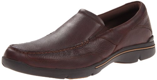 Mens Rockport Eberdon Marrone Fannullone Scuro rrRwxq