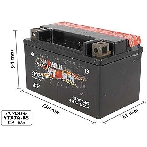 AGM Batería de Motocicleta CBTX7A YTX7A-BS-BS 6Ah 12 V
