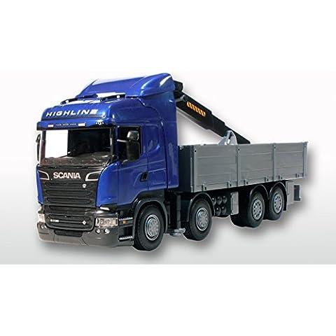 EMEK - EM50504 - Scania R HL con camiones grúa, azul cabine