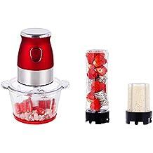 LYY Batidora de Vaso Procesador Alimentos Funciones 3en 1Batidora para Smoothie Picador Electrica Carne Frutas y