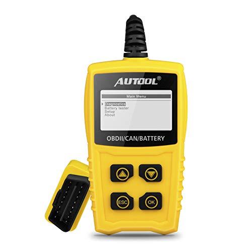 OBD2 OBDII Diagnostica Scanner Auto, AUTOOL Diagnostico Strumento per Motore Auto con Tester Batteria Lettore codice guasto motore auto