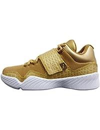 Jordan Mens J23 Metallic Gold White Gold Size 11.5