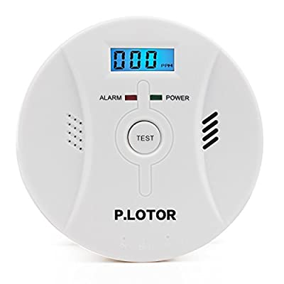 Smoke and Carbon Monoxide Alarm, P.LOTOR Combined CO Detector Monitor with Voice Alert and Digital Display