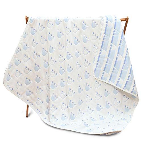 Neugeborenes Baby Pulver (Badetuch Baby Gaze Badetuch Neugeborenen Handtuch Kind Babydecke Schal 6 Schicht 110 * 110cm süßes Pulver, himmelblau)