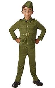 Rubies 620786S - Disfraz oficial de soldado de la Segunda Guerra Mundial para niños, para niños de 3 a 4 años, multicolor