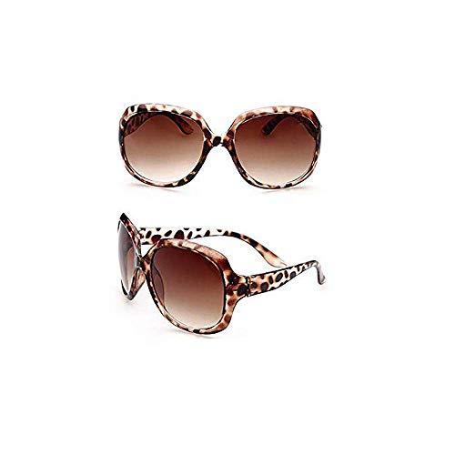 Große übergroße Damen-Damen-Sonnenbrille Designer Big Frame Retro Vintage Leopard Big Frame Retro Vintage Mode Schattierungen Übergroß Brillen Klassisch Designer-Sonnenbrillen Modestil