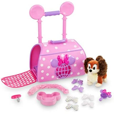 Minnie Mouse Pet Carrier Junto con accesorios como un tazón de fuente de alimentación y el cepillo