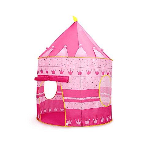 Siyushop Roi Womb Château Enfants Enfants Jouer Tente Maison Intérieur ou Extérieur Jardin Jouets Windy Maison Jouer Maison Plage Tente Soleil Garçon Fille (Color : Pink)