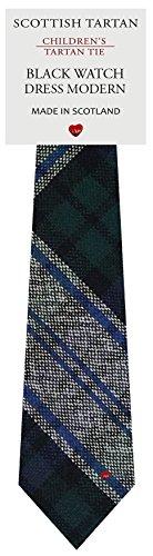 I Luv Ltd Garçon Tout Cravate en Laine Tissé et Fabriqué en Ecosse à Black Watch Dress Modern Tartan