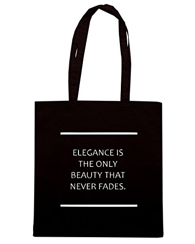 Cotton Island - Borsa Shopping CIT0071 elegance is the only beauty thet never fades audrey hepburn, Taglia Capacita 10 litri