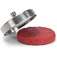 Tiswell hamburguesa prensa Hamburger Patty Maker, antiadherente molde de acero, inoxidable, ideal para barbacoa, acero inoxidable, suelto
