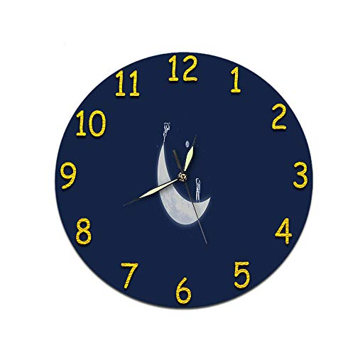 LUOYLYM Geschenk Uhr Wanduhr Acryl Mute Movement Clock Wandaufkleber Clock Borderless Wecker D-418 (Luminous Hands) 28cm