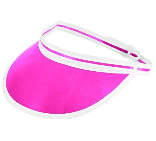 Islander Fashions Erwachsene Tennis Golf Sonnenblende Poker Hut Unisex Sportbekleidung Party Cap Zubeh�r Pink Pack von 1 Einheitsgr��e