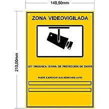 Cartel Zona Videovigilada A5 interior/exterior