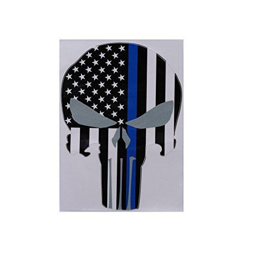 Sedeta® Auto Body Fenster Aufkleber Schädel geformt amerikanischen US-Flagge Streifen PVC Aufkleber 10x15CM -
