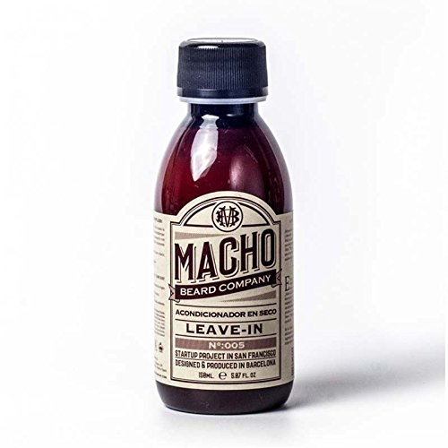 Macho Beard Company Leave In Acondicionador para Barba Tratamiento Facial - 150 ml