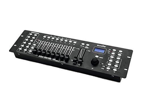 Eurolite DMX Scan Control 192 MK2 Controller für 12 Geräte mit jeweils bis zu 16 DMX-Kanälen und mit Joystick | DMX-Lichteffektgeräte | Moving-Heads | Scanner | LED-Scheinwerfer