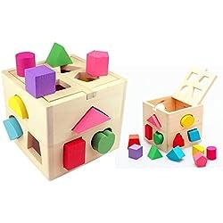 Itian 13 Hoyos de Bloque Cubo de Madera, Color de la Forma del Clasificador de Inteligencia de Detección, para el Niño