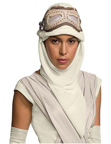 Damen Kostüm, Star Wars Rey Maske Kapuze (Star Wars-sith-halloween-kostüme)