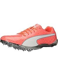 PUMA Men's Evospeed Electric 6 Track-Shoes, Nrgy Peach-Puma White-Nrgy Turquoise, 9. 5 M US