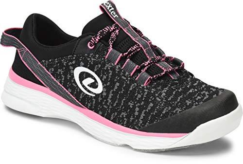 Dexter Jenna II - Schwarz/Grau/Pink, Bowling-Schuhe Damen, für Rechts- und Linkshänder in den Schuhgrößen 36-41 und Mein-Bowlingshop.de Schuhtasche. Größe 40