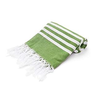 Ashley Mills Jumbo-Handtuch für Hamam/Peshtemal Fouta, groß Traditionelles Design, 100% Baumwolle, mit Fransen, gestreift, 100 x 200 cm