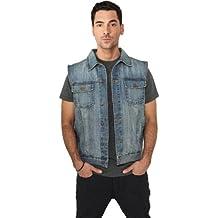 "Urban Classics Jeansweste ""Denim Vest"", Größe: XXL, Farbe: lightblue"